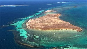 Houtman Abrolhos - Aerial photograph of Rat Island (Easter Group)