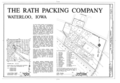 Rath Packing Company, Sycamore Street between Elm and Eighteenth Streets, Waterloo, Black Hawk County, IA HAER IOWA,7-WATLO,4- (sheet 1 of 1).png