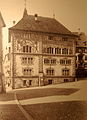 Rathaus Rapperswil mit Fassadenmalerei von 1902, Max Diener, um 1910, Stadtarchiv Rapperswil-Jona 2012-12-01 16-57-31 (P7700).JPG