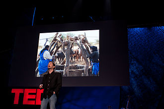 Ray Zahab - Zahab speaking at TED in 2009. Photograph by Bill Holsinger-Robinson.