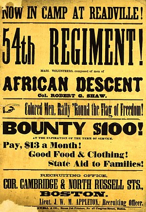 Camp Meigs - Recruiting poster, 1863.
