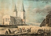 Reculver church in 1755