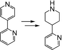 Reduktion von 2,4′-Bipyridin