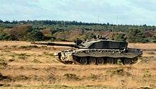 Foto van een modern yeomanry tank