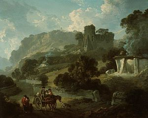 Castell Coch - Julius Caesar Ibbetson's 1808 painting of the medieval ruins, based on his 1792 watercolour