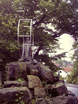 Otto Feick - Monument in Schönau an der Brend to the invention of the Gyrowheel (gym wheel) by Otto Feick