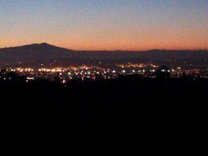 Wildcat Canyon Regional Park - Richmond as seen from Wildcat Canyon Regional Park at dusk looking West on 14 November 2013