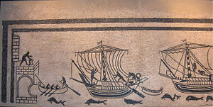 Rimini - Rimini's ancient harbour, portrayed in the mosaic of the boats from the domus of Palazzo Diotallevi