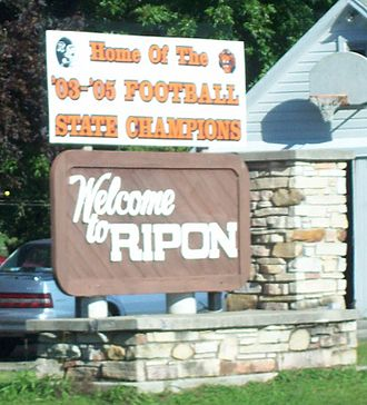 Ripon, Wisconsin - Welcome sign