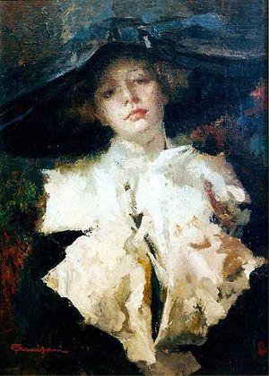 Giuseppe Amisani - Giuseppe Amisani, Portrait of Lyda Borelli, 1910 ca.