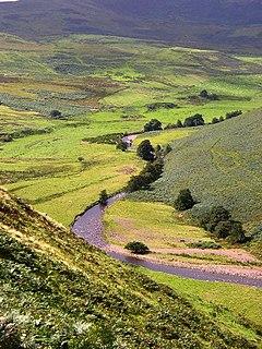 Breamish river in United Kingdom