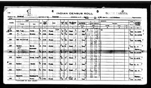 1930 United States Census - Image: Robert (Bob) Barker South Dakota's Indian Census Roll; April 1, 1930