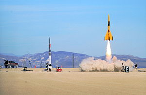 Ammonium perchlorate composite propellant - A high-power rocket launch using an APCP motor
