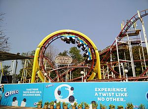 EsselWorld - Roller coaster in EsselWorld, Mumbai.