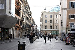Rom, die Straße Via del Corso, mittlerer Teil.JPG