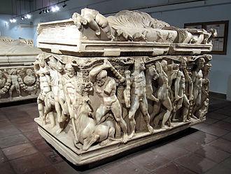Konya - Hercules Sarcophagus (ca. 250–260 AD) at the Konya Archaeological Museum