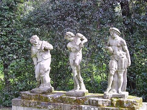 Romolo Ferrucci del Tadda Three grotesque figuers Boboli Gardens