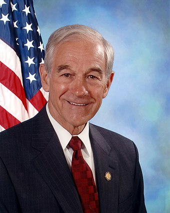 Ron Paul, United States Representative from Texas (1997-2013) Ron Paul, official Congressional photo portrait, 2007.jpg
