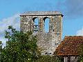 Rouffignac-Saint-Cernin église St Cernin clocher-mur (2).JPG