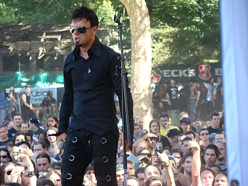 Roy Khan was Kamelot's longest-serving lead vocalist, from 1998 to 2011. Roy Khan 2.jpg