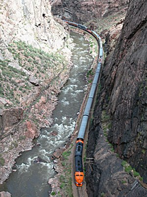 Royal Gorge Route Railroad - A view of the Royal Gorge Route Railroad