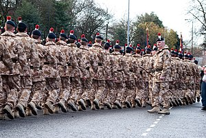 Regiment - The Royal Regiment of Fusiliers on parade in England