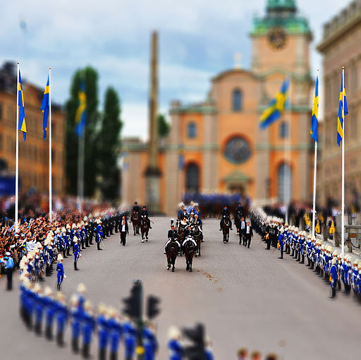 Royal wedding in tilt shift