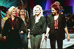 Roxette - Roxette together with Eva Dahlgren on the Rock Runt Riket tour in 1987
