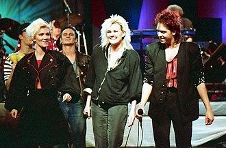 Roxette - Roxette together with Eva Dahlgren on the Rock Runt Riket tour in 1987