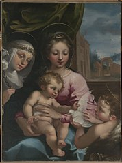Virgin and Child with the Young Saint John the Baptist and Saint Catherine ofSiena