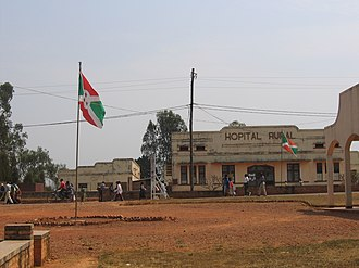Cottage hospital - A cottage hospital in Ruyigi, Burundi.