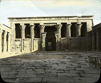 Temple of Edfu - North side of court of Temple of Edfu