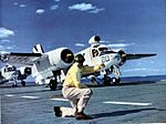 S2F Tracker of VS-37 on cat of USS Yorktown (CVS-10) c1959.jpg