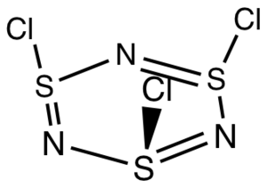 Thiazyl chloride trimer - Image: S3N3Cl 3