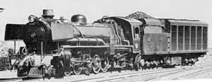 South African type CL tender - Image: SAR Class 20 2485 (2 10 2) Condenser
