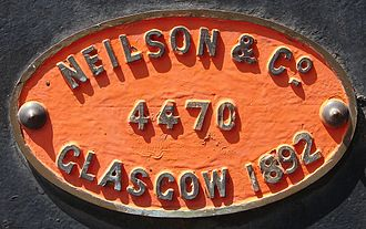 South African Class 7 4-8-0 - Works plate, no. 345