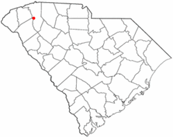 Location of Gantt, South Carolina