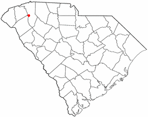 Gantt, South Carolina - Image: SC Map doton Gantt