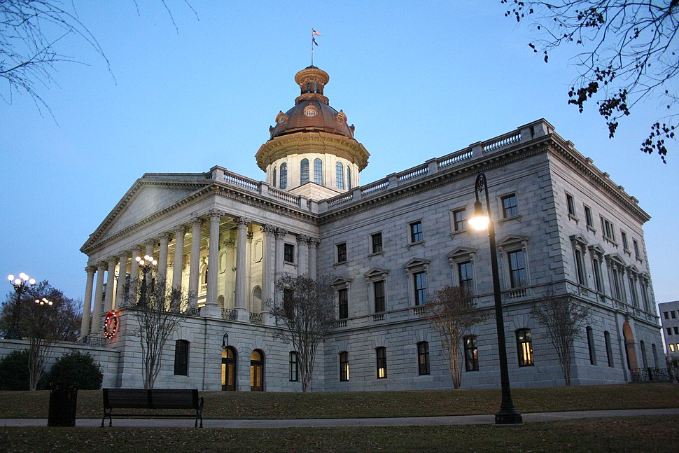 SC State House at evening