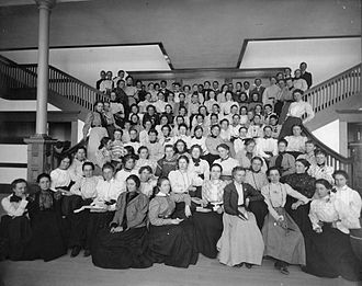 California State University - Students of the opening year of the newly constructed San Diego Normal School.