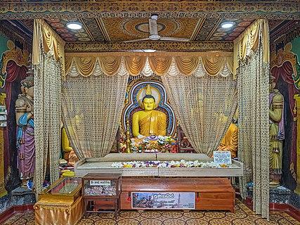 Muthiyangana Raja Maha Vihara, shrine room