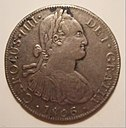 SPAIN and COLONIES 1806 CHARLES (CARLOS) IV-8 REALES, PIECE OF EIGHT b - Flickr - woody1778a.jpg