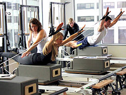 Stott Pilates Reformer class at Toronto Corporate Training Center.