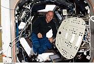 STS132 Reisman inside Cupola