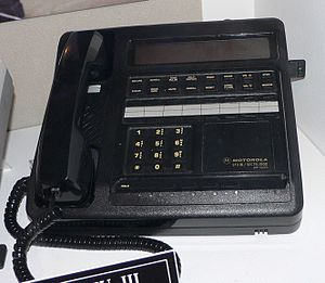 STU-III - A STU-III secure telephone (Motorola model). Crypto Ignition Key upper right.