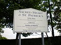 Sacred Heart and St Patrick's Catholic Church, Sign - geograph.org.uk - 1336809.jpg