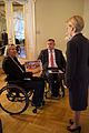 Saeimas priekšsēdētāja sveic Latvijas paralimpisko vienību un Almu Vītolu (22694387674).jpg