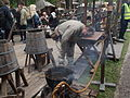 Sahti brewing at Turku Medieval market 2015.jpg
