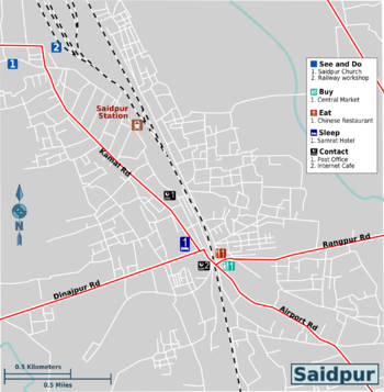 Saidpur travel map.png