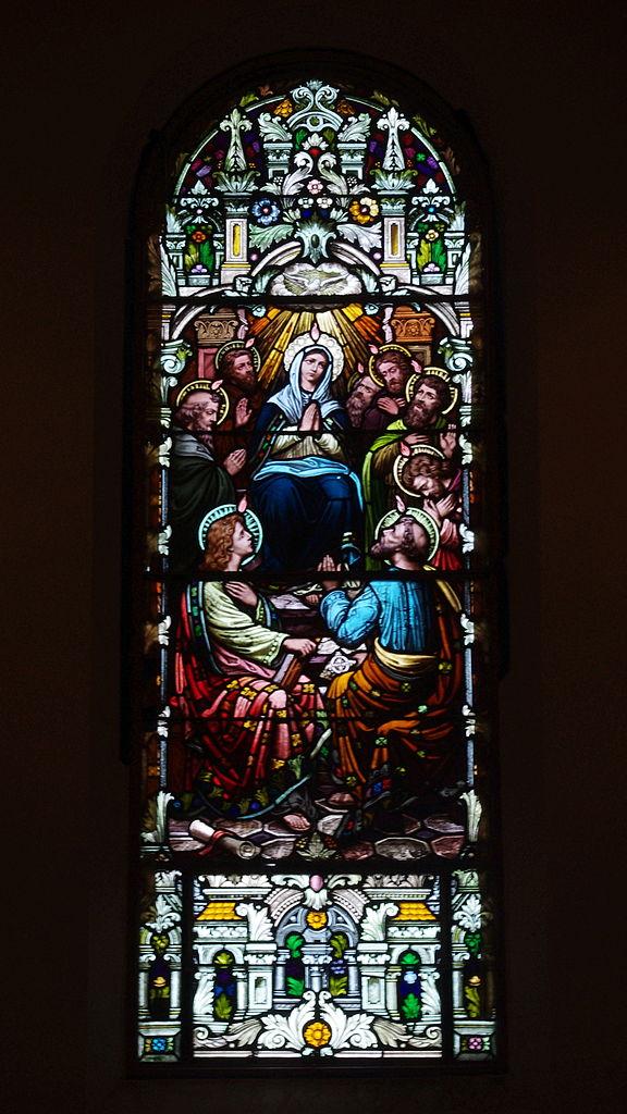Windows For Sale >> File:Saint Dominic Catholic Church (Columbus, Ohio) - stained glass, Pentecost.jpg - Wikimedia ...